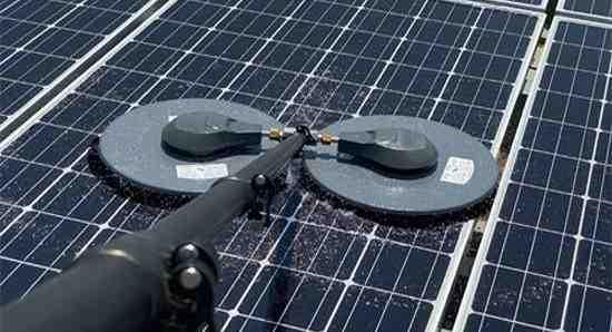 How do professionals clean solar panels?