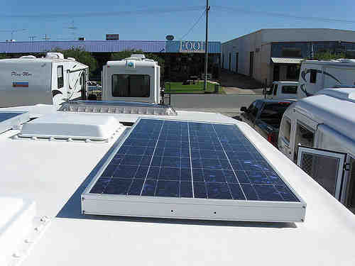 How many solar panels does it take to charge an RV?