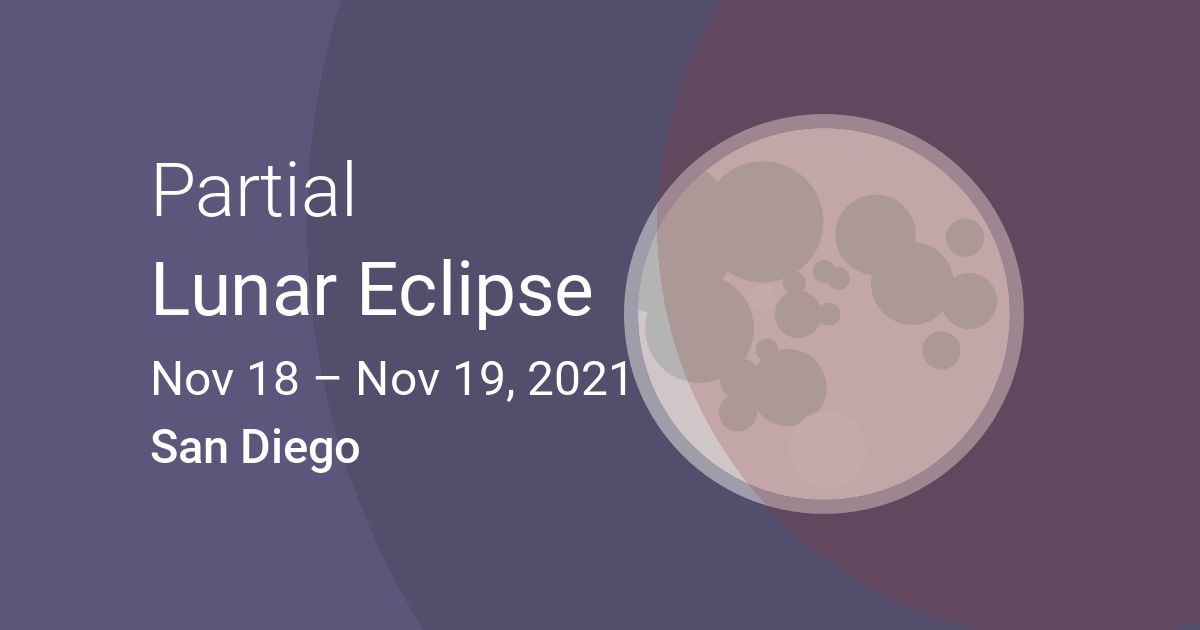 What Time is the eclipse in San Diego?