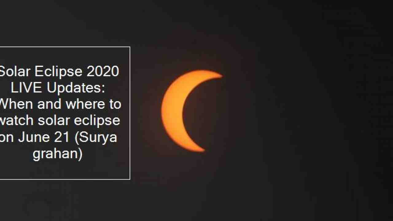 What time is the solar eclipse in June 2020?