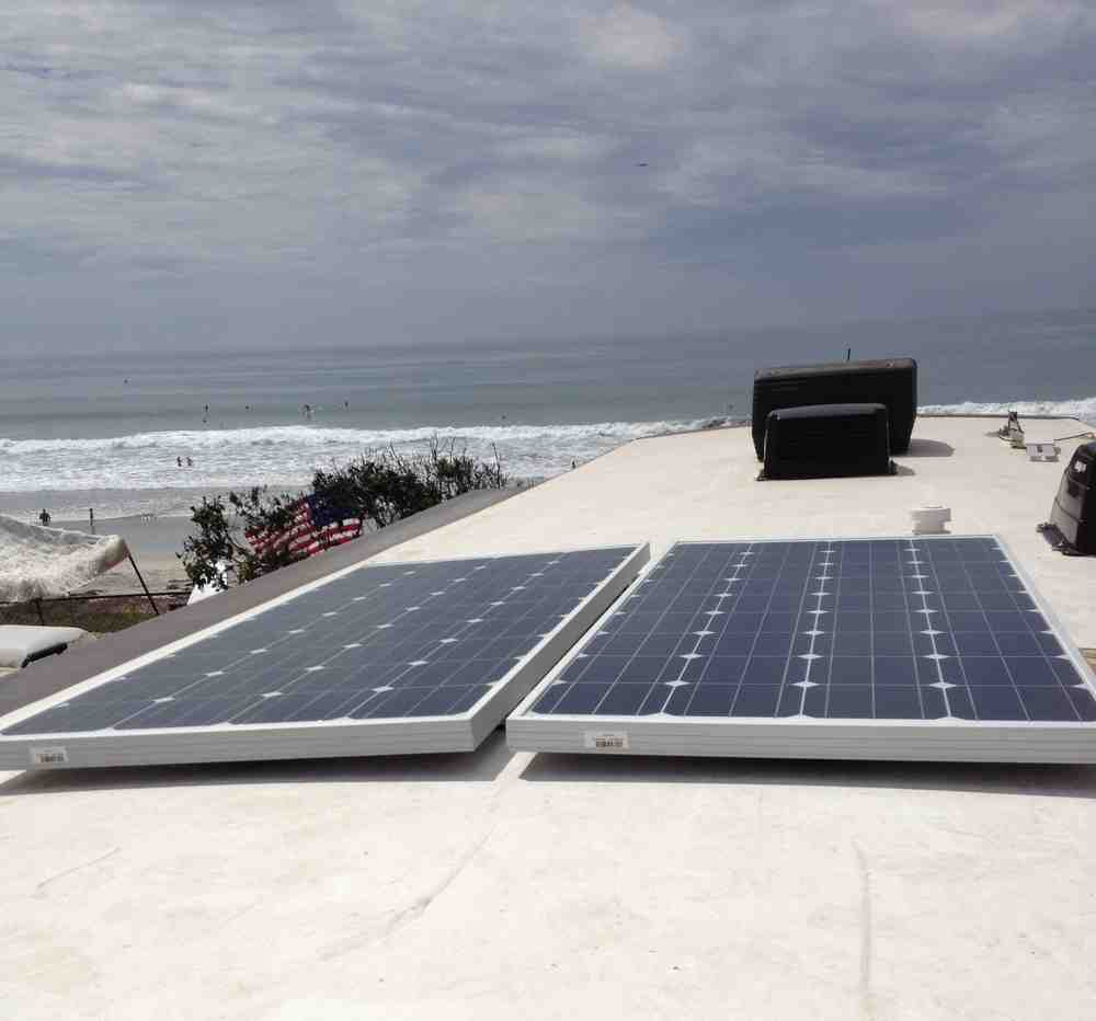 How much does it cost to install solar panels on an RV?