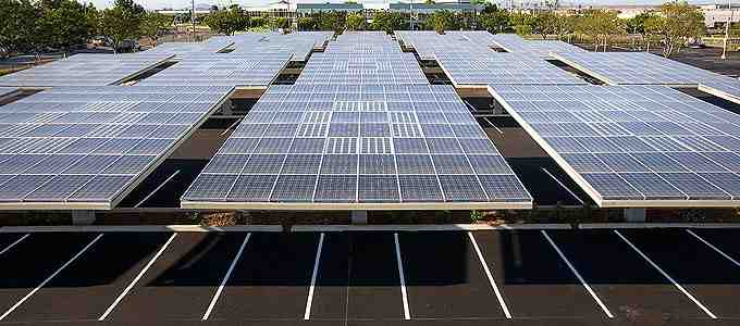 What company makes solar powered EV charging stations?